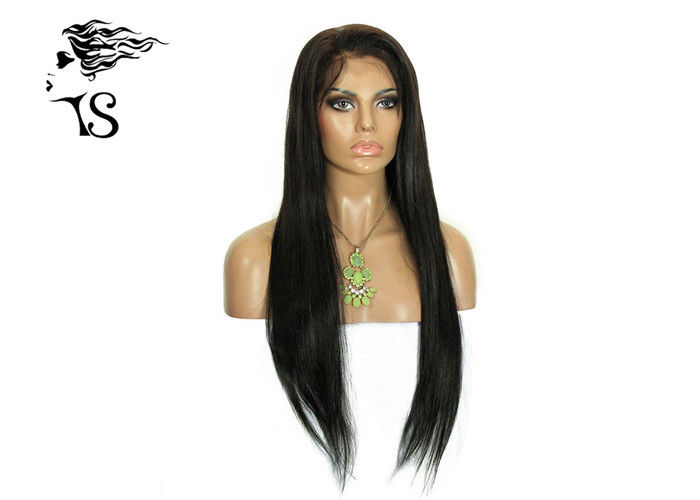Soft Brazilian Human Hair Lace Front Wigs With Silky Straight Natural Color Looking