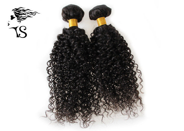 100% Brazilian Virgin Human Hair Jerry Curly Black Human Hair Weave Extensions