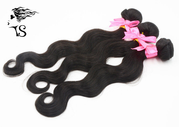 Body Wave Black Indian Remy Human Hair Extensions 3 Bundles Long Lasting